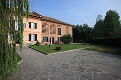 Luxury Equestrian Property for sale in Piemonte Italy - Courtyard
