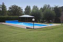 Luxury Equestrian Property for sale in Piemonte Italy - Swimming pool area