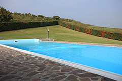 Luxury Equestrian Property for sale in Piemonte Italy - Spacious swimming pool