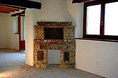 Teil restauriertes Stein Bauernhaus zum Verkauf im Piemont - Kitchen area