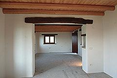 Teil restauriertes Stein Bauernhaus zum Verkauf im Piemont - Dining room-kitchen
