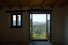 Teil restauriertes Stein Bauernhaus zum Verkauf im Piemont - Dining view views
