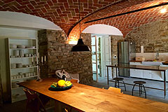Restored Luxury Stone Country House in Piemonte - Kitchen