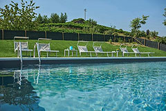 Luxury Property with Pool for sale in Piemonte - Pool area