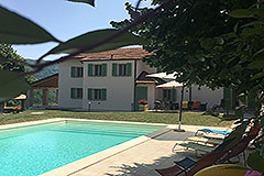 Luxury Country Home for sale in the Piemonte region of Italy - Pool area