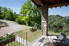 Luxury Country Home with Pool for sale in Piemonte Italy - One of several terraces
