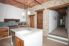 Luxury Country Home with Pool for sale in Piemonte Italy - Kitchen area