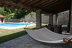 Luxury Country Home with Pool for sale in Piemonte Italy - Terrace area