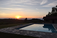 Luxury Country Home with Pool for sale in Piemonte Italy - Sunset