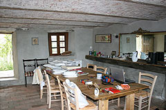 Rustic Italian farmhouse for sale in Piemonte Italy - Kitchen-Dining area