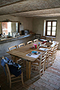 Rustic Italian farmhouse for sale in Piemonte Italy - Dining area