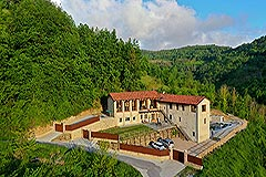 Luxury Stone Property for sale in Piemonte Italy - Luxury Restored Langhe Stone House. with panoramic views of the mountains