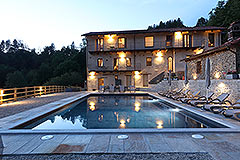 Luxury Stone Property for sale in Piemonte Italy - Pool area