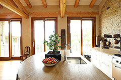 Luxury Stone Property for sale in Piemonte Italy - Kitchen area