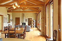 Luxury Stone Property for sale in Piemonte Italy - Dining area