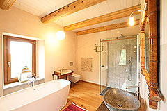 Luxury Stone Property for sale in Piemonte Italy - Rustic style bathroom