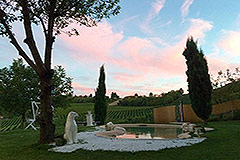 Luxury Country House for sale in the Piemonte region of Italy. - Garden area