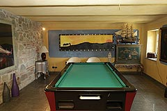 Luxury Country House for sale in the Piemonte region of Italy. - Living area and games room