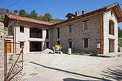 Restored Farmhouse for sale in Piemonte Italy - Front View