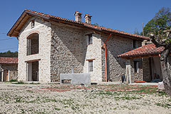 Restored Farmhouse for sale in Piemonte Italy - Side view