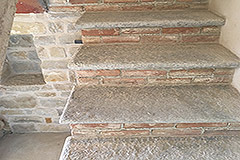 Restored Farmhouse for sale in Piemonte Italy - Traditional stone stairs