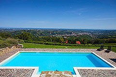 Luxury Property for sale in Piemonte Italy - View from the pool