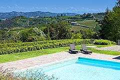 Luxury Property for sale in Piemonte Italy - Views from the pool