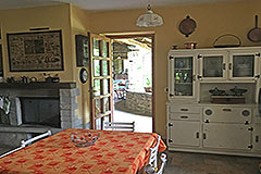 Italian Stone Farmhouse for sale in Piemonte Italy - Dining area