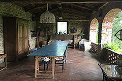 Italian Stone Farmhouse for sale in Piemonte Italy - Terrace area
