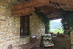 Italian Stone Farmhouse for sale in Piemonte Italy - Terrace
