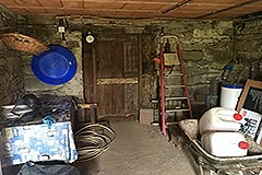 Italian Stone Farmhouse for sale in Piemonte Italy - Storage area