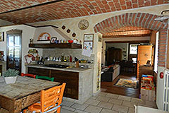 Restored Character House with Barn for sale in Piemonte - Kitchen area