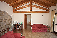 Restored stone house with barn and other stone properties for restoration - Living area