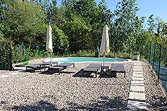 Country House for sale in Piemonte. - Pool area