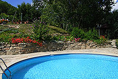 Country Estate for sale in Piemonte Italy - Pool area