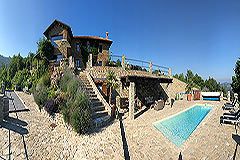 Luxury Property for sale in Piemonte Italy - Panorama of property