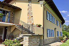 Luxury Stone Property with Swimming Pool for sale in Piemonte - Front view