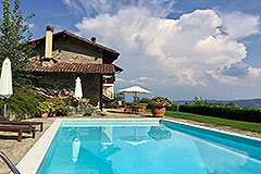 Luxury Stone Property with Swimming Pool for sale in Piemonte - Restored Stone House with Swimming Pool