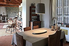 Luxury Stone Property with Swimming Pool for sale in Piemonte - Dining area