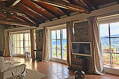 Luxury Stone Property with Swimming Pool for sale in Piemonte - Exposed wooden ceiling