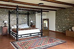 Luxury Stone Property with Swimming Pool for sale in Piemonte - Master Bedroom