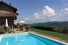 Luxuriöses Steinhaus mit Schwimmbad zum Verkauf im Piemont - Panoramic views