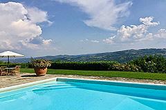 Luxuriöses Steinhaus mit Schwimmbad zum Verkauf im Piemont - Pool area