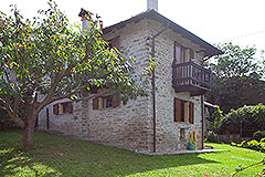 Restored Langhe Stone House and Guest Apartment for sale in Piemonte Italy - Side view