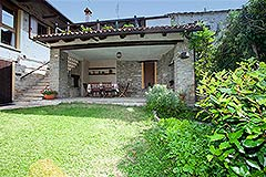 Restored Langhe Stone House and Guest Apartment for sale in Piemonte Italy - Terrace area
