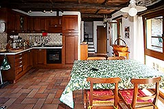 Restored Langhe Stone House and Guest Apartment for sale in Piemonte Italy - Kitchen area