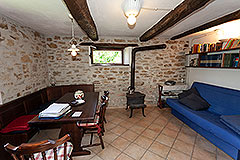 Restored Langhe Stone House and Guest Apartment for sale in Piemonte Italy - Exposed stone wall