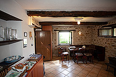 Restored Langhe Stone House and Guest Apartment for sale in Piemonte Italy - Rustic interior