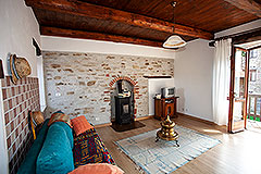 Restored Langhe Stone House and Guest Apartment for sale in Piemonte Italy - Living area