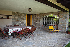Restored Langhe Stone House and Guest Apartment for sale in Piemonte Italy - Spacious Terrace